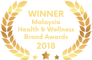 Winner of Malaysia Health & Wellness Brand Awards 2018
